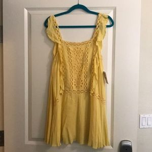 Free People Yellow Dress size small never worn
